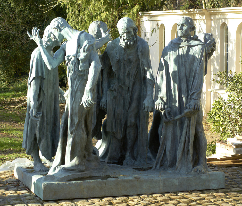 "Auguste Rodin's bronze ""Burghers of Calais"""