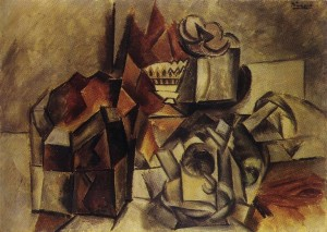 "Pablo Picasso ""Compotier et Tasse"" original oil on canvas painting, 1909"
