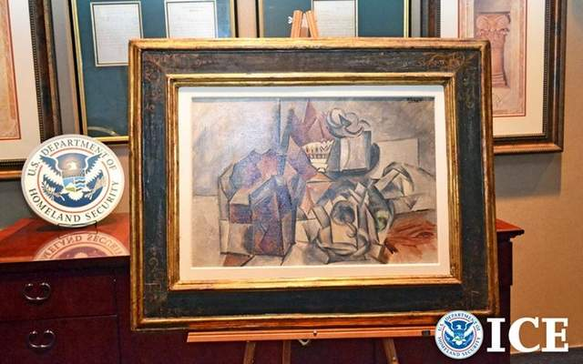 "Pablo Picasso ""Compotier et Tasse"" secured by American Authorities, ICE and Homeland Security"