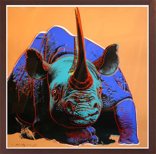 WARHOL- BlackRhino