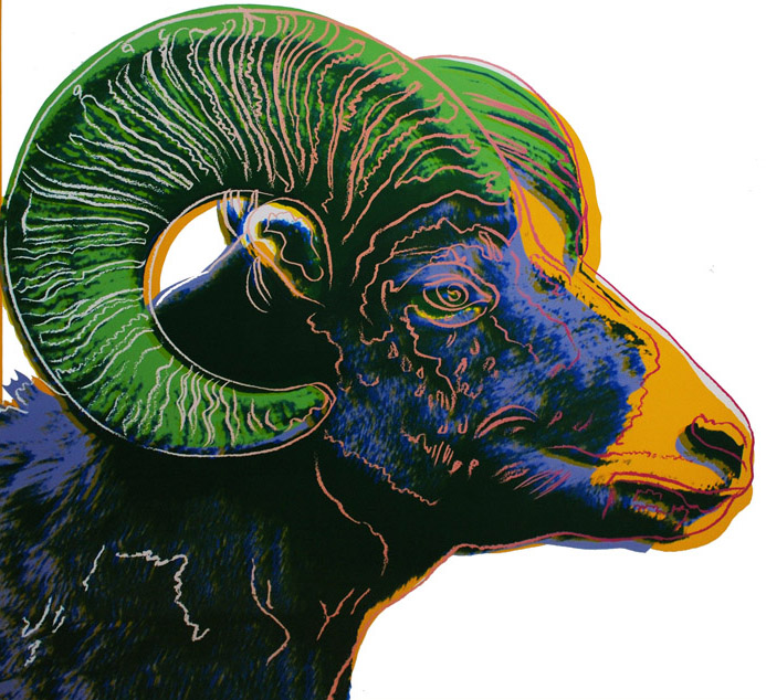 Andy Warhol Big Horn Ram