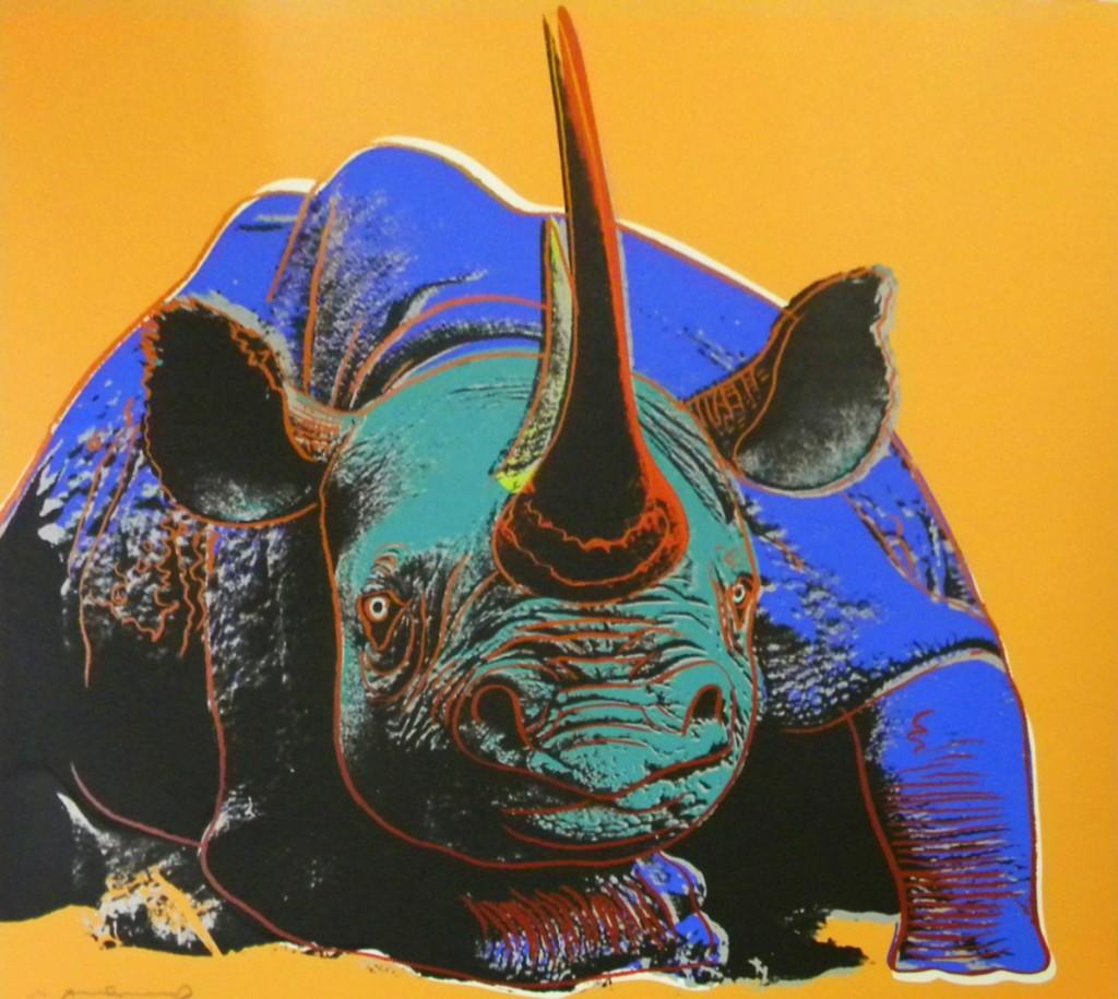 Black Rhino by Andy Warhol
