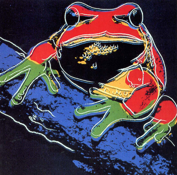 Andy Warhol Tree Frog