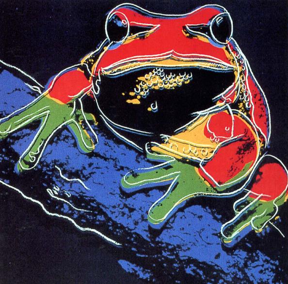 Andy Warhol Tree Frog