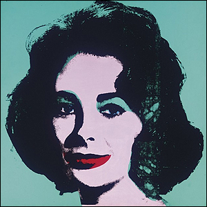 Liz (Colored Liz) Andy Warhol 1963