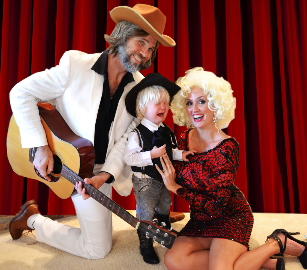 Family Halloween Costume Kenny Rogers Dolly Parton