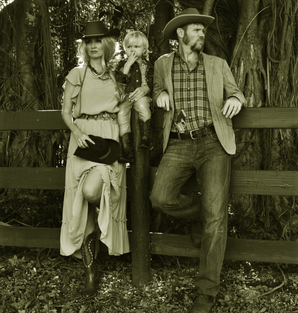 family halloween costume cowboys