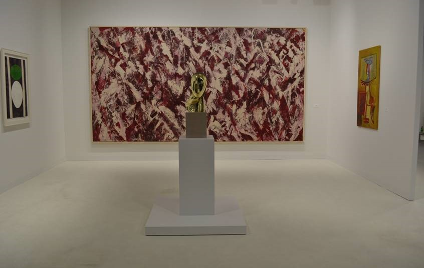 Paul Kasmin Gallery at Art Basel MiamiBeach featuring Lee Krasner and Constantin Brancusi