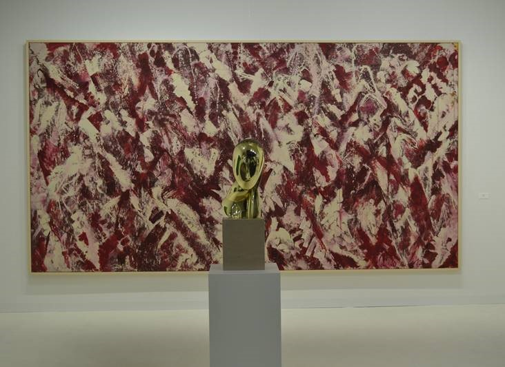 "Lee Krasner's ""Another Storm"" behind Constantin Brancusi's ""Une Muse"" at Paul Kasmin Gallery- Art Basel Miami Beach"