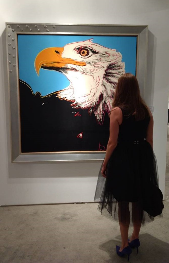 "David Benrimon Fine Art's original acrylic and silkscreen ""Bald Eagle"" by Andy Warhol"