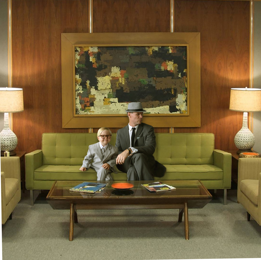 AMC Mad Men Costume Idea- Don Draper (Jon Hamm) and Roger Sterling (John Slattery)in 1960's office.