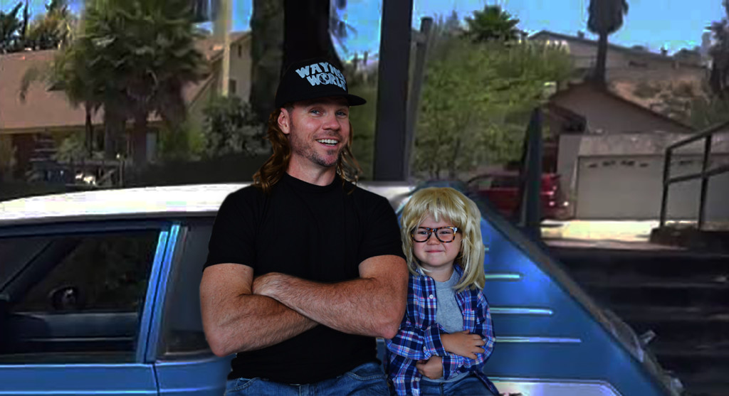 Wayne's World Costume Idea- Wayne's World Gremlin Car with Wayne and Garth