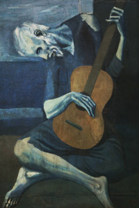 Pablo Picasso's Picassos The Old Guitarist painting