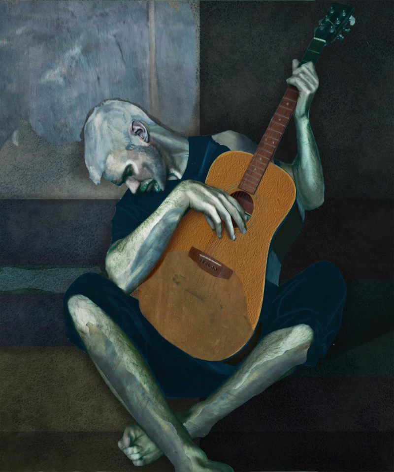 The Old Guitarist by Pablo Picasso
